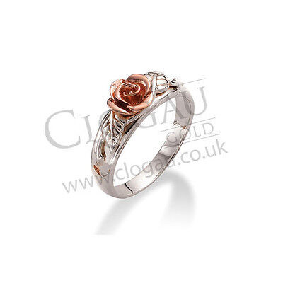 Official Clogau Silver & Rose Gold Royal Roses Ring SAVE 25% OFF RRP £139 SIZE R