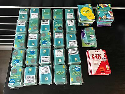 Job Lot Of 600 Sim Cards Tmobile And Vodafone