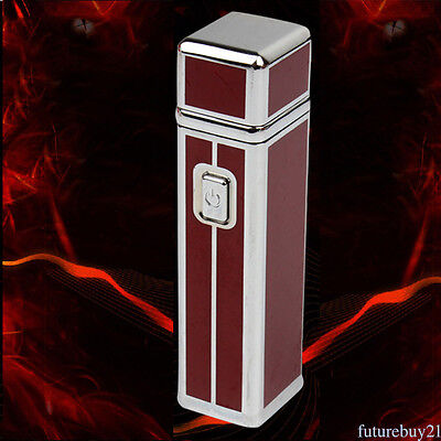 Luxury Electric ARC USB Rechargeable Flameless Cigarette Cigar Lighter Metal Hot