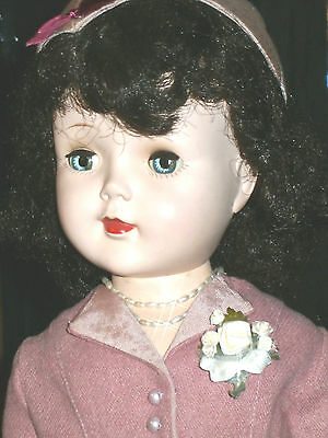 """American Character 24"""" Sweet Sue Walker Black Hair Great Clothes Hard Plastic"""