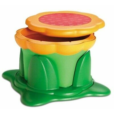 Kids Kit Kiddy Step Stool Seat Storage Box Non Slip Rubber Height Adjust - Green