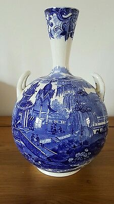 antique wedgwood vase c1899in the chinese pattern transfer printed ex condition.