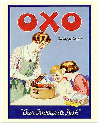 Oxo Cube Our Favourite Dish - Vintage Art Print Poster - A1 A2 A3 A4 A5