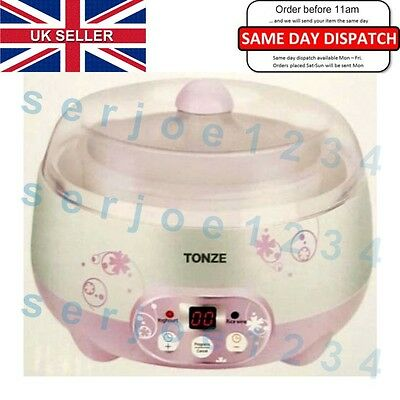 Digital Natural Yoghurt Maker with Automatic LCD Display,Healthy Food . UK STOCK