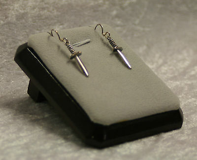 Silver Athame Drop Earrings Jewellery Sterling Silver Pagan Wiccan Witch