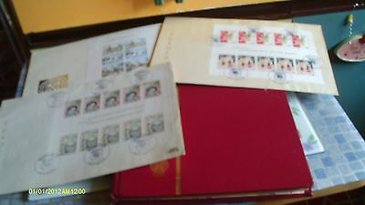UN stamp collection Mint stamp booklets and souvenir folders / year packs