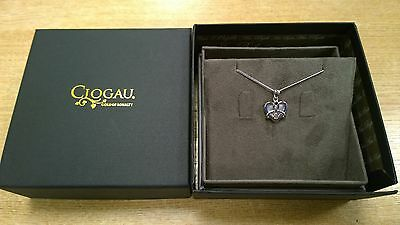 Clogau Silver & Rose Gold Dwynwen Mother of Pearl Pendant SAVE 50% OFF RRP £149