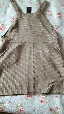 ladies pinafore dress new look size 14 with tags