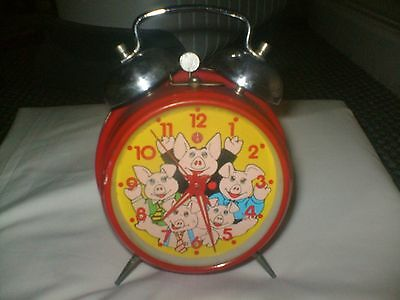 Natwest Pigs Piggy Alarm Clock Working Order