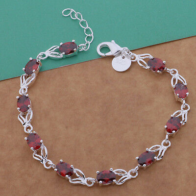 fashion lady Jewelry Solid925 Silver Red Stone Bracelet / Bangle new style