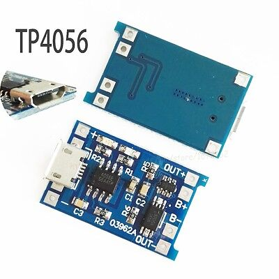 2Pcs 5V TP4056 Single Lithium Ion  / Lipo 1A Charger And Protection Module IC 1S