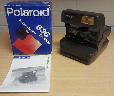 Polaroid 636 Closeup Instant Camera, Boxed Immaculate Condition + Instructions .