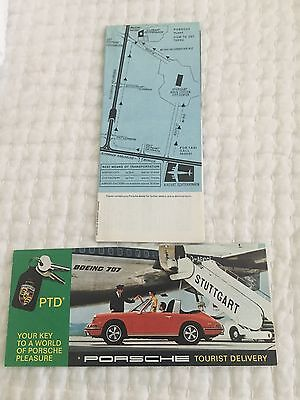 1969 Porsche 911 / 912 Tourist Delivery Folder / Brochure – RARE!!