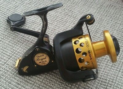 Angelrolle DAM Quick Royal MDS 5500 Germany reel Gold Rolle Vollmetall alt Wels