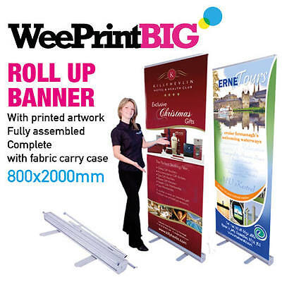 800x2000mm Roller Banner / Roll up Banner / Pull up Stand + FREE DELIVERY