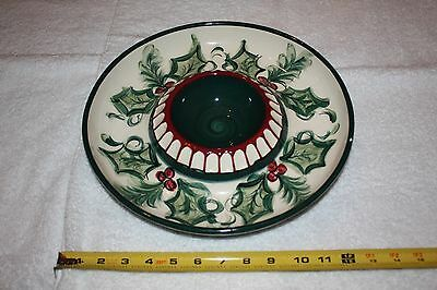 Gail Pittman Hollylujah Chip and Dip Plate Signed 1995 retired pattern