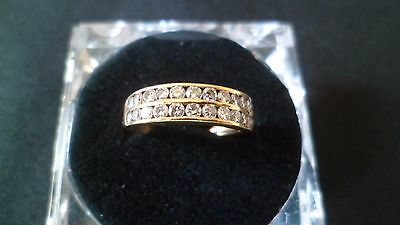 BELLE BAGUE ANNEAU OR 18 K + DIAMANTS ( 3,2 g )
