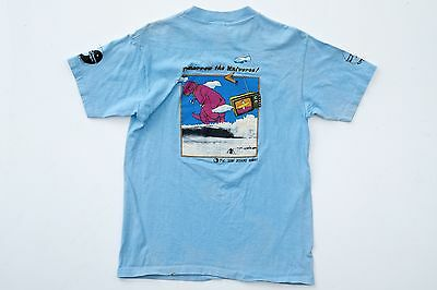 T&C Surf Designs Hawaii Town and Country Surfboards Dino T-Shirt 1980s NOS VTG L