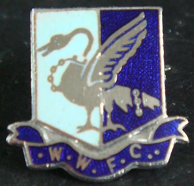 WYCOMBE WANDERERS FC Vintage club crest badge Brooch pin In chrome 20mm Dia