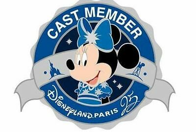 Disney pins Cast Member Exclusive Minnie Mouse 25eme Edition Limitée