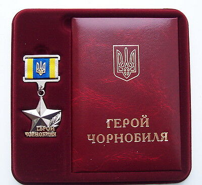 Russian Chernobyl Disaster Liquidation Participant Ukraine Hero star