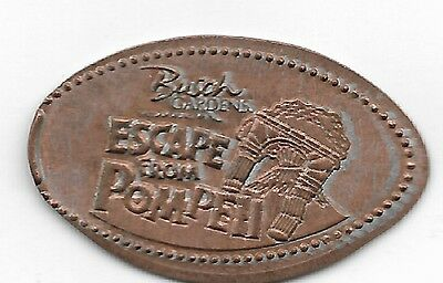 Busch Gardens Escape From Pompeii  Elongated Penny Coin