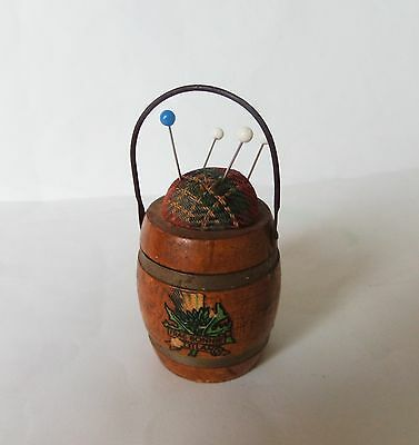 Lovely Antique Vintage Treen Pin Cushion