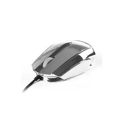 Raton Optico NGS WIRED MOUSE ICE PLATA
