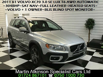 2011 61 Volvo XC70 3.0 T6 304BHP SE LUX AWD 4X4 Geartronic Automatic Petrol