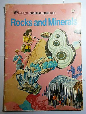 A Golden Exploring Earth Book ROCKS AND MINERALS by Martin & Parker (1974, pbk)