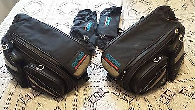 Oxford Sports Lifetime Luggage X60 Panniers Black Motorcycle Saddle Bags 60L Lit
