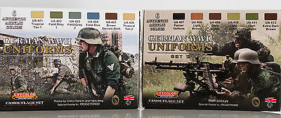 GERMAN UNIFORMS WWII SET 1 + SET 2 colori acrilici LIFECOLOR