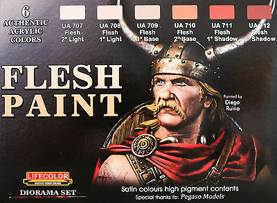 FLESH PAINT   ,  SET 6 colori acrilici Lifecolor da 22ml cad.