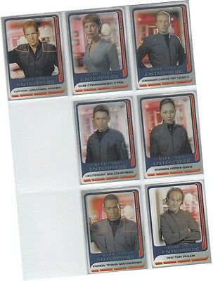 "Star Trek Enterprise Season 3: 7 Card ""Enterprise Crew"" Chase Set CC1-CC7"