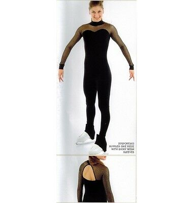 Figure Skating Dress Catsuit MESH SLEEVES XPRESSION 1653 stock up to 2 weeks