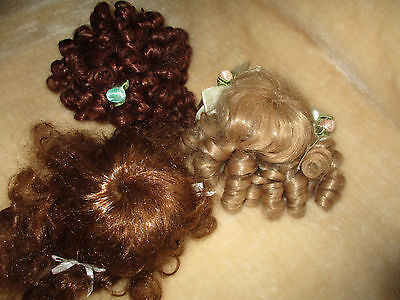 Doll Making Parts - Wigs X 3