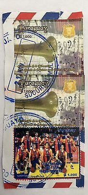 2012 Stamps Imperforated Paraguay 7000 G Good Cancels & Cv