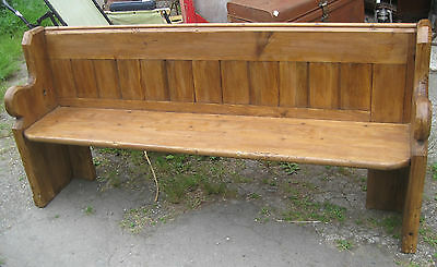 Antique Pine Pew.