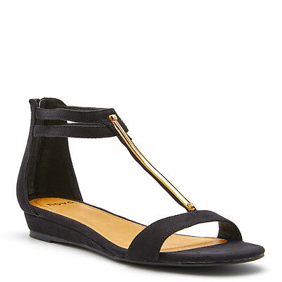 NEW Women's NOVO RACOON BLACK Shoes WEDGES, SANDALS