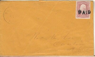 Paid Cancel #65 on Cover.