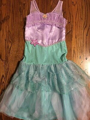 Girls Disney Ariel The Little Mermaid Costume Dress Youth Size 9 / 10