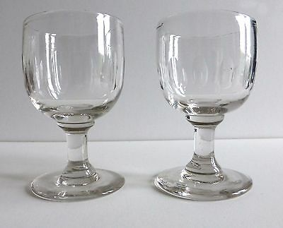 A pair of late Victorian Wine Goblets