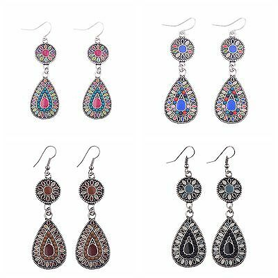 Flower Round Water Droplets Shape 12Pairs Multi-color Earrings Wholesale Lots