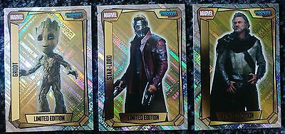 Marvel Missions Topps Limited Edition Trading Cards x 3