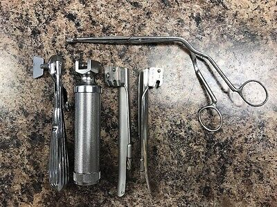 Lot of Welch Allyn 3pc Laryngoscope 60300, Sicoa Ring Cutter, Vantange ...