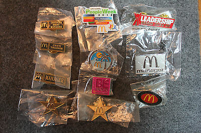 McDonald's Crew Manager Pin Collection lot 1