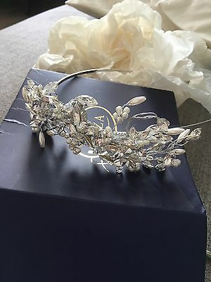 Liza Bridal Headband Hair Piece Swarovski & Pearl - Worn Once