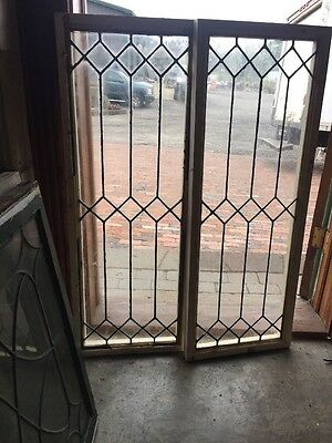 SG 1480 2Available Price Separate Antique Leaded Transom Window 15.75 X 42.5