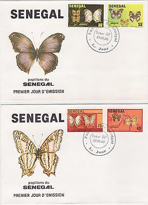 Senegal Republic 1982 2 First Day Covers Butterflies Of Senegal