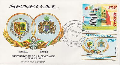 Senegal Gambia Republic 1982 First Day Cover Senegambie Confederation